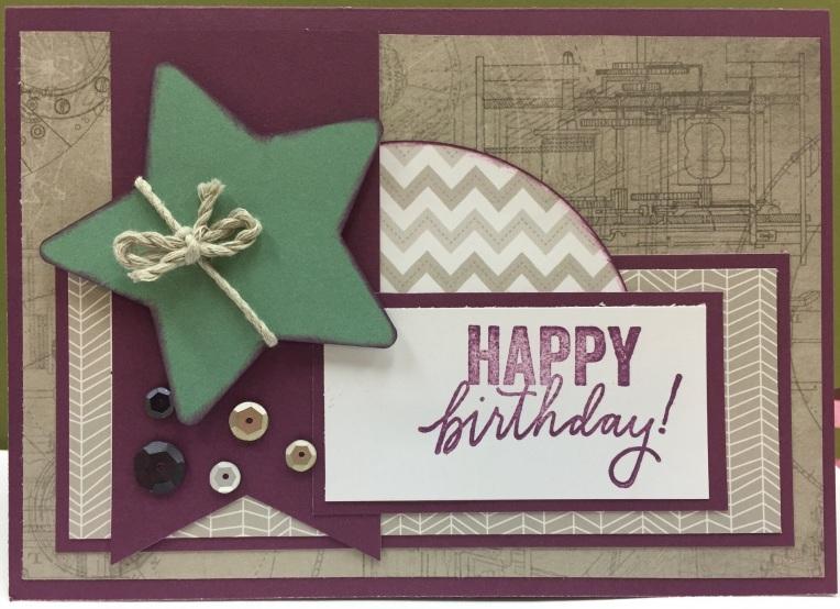 Masculine Birthday a Card
